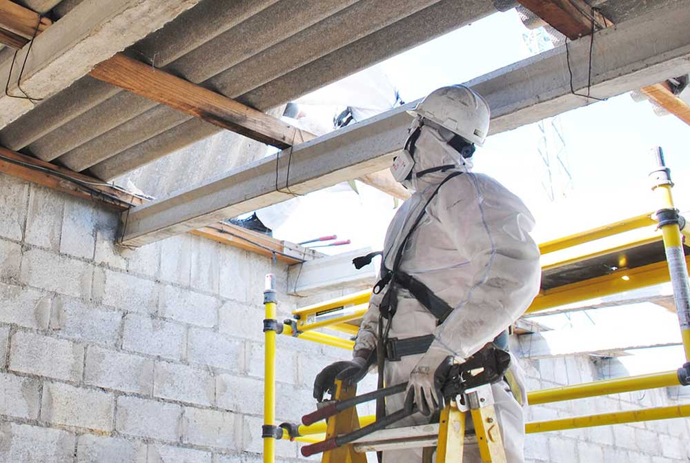 Asbestos Professional Wearing PPE