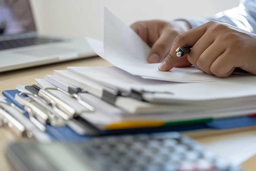 Processing Paperwork