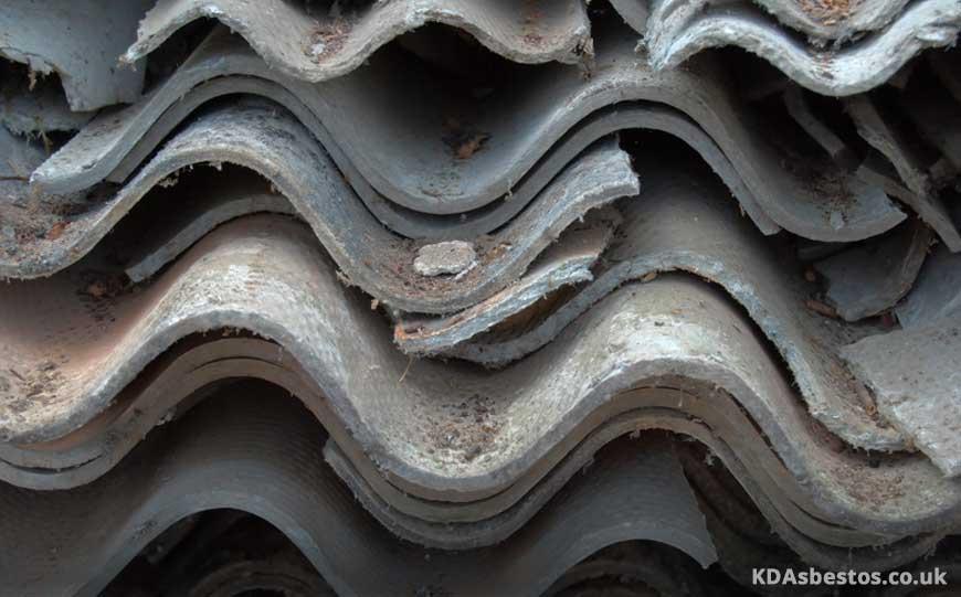 Broken Asbestos Roof Panels
