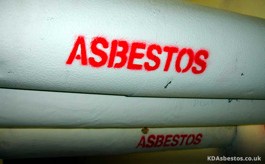 Asbestos Pipe Wrapping